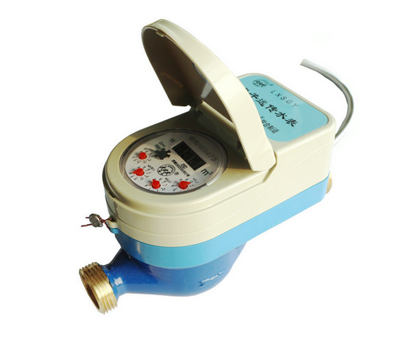 Electronic remote valve controlled water meter