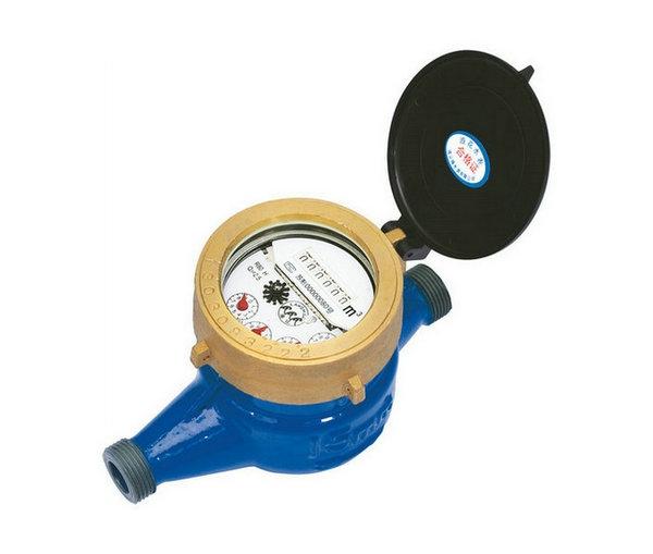 Rotor liquid-sealed water meter