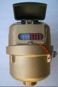 velumetric brass body water meter